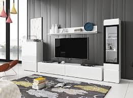 feldmann wohnen wohnwand vera 4 set 4 tlg 1 hängevitrine 1 hängeschrank 1 lowboard 1 wandregal in weiß kaufen otto