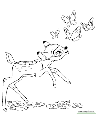 Bambi Coloring Pages Printable Disney Book Free To Download