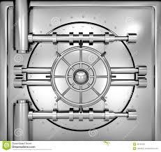 Download Illustration Of Bank Vault Door Front View Stock