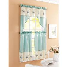 Car Window Curtains Walmart by Better Homes And Garden Embroidered Butterfly Window Kitchen