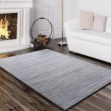 teppich wohnzimmer gestreift grau