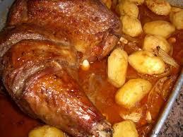 cuisine cuisse de dinde de dinde rôtie au four