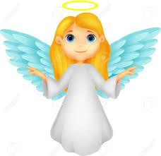 Cute Angel Cartoon Stock Vector