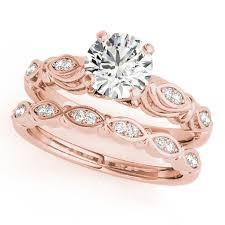 14kt Yellow Gold Diamond Bridal Wedding Engagement Ring 1 4