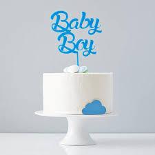 Baby Boy Shower Cake Topper