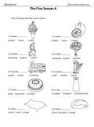 The Five Senses 4 Bw Worksheets