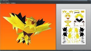 Zapdos Pokemon Papercraft Unfold By Antyyyviantart On