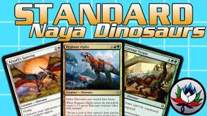 mtg deck standard mtg naya dinosaurs tribal standard deck tech for magic the