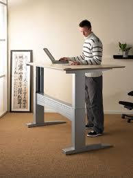 Kangaroo Standing Desk Uk by Height Adjustable Standing Desk Office Depot Standing Office Desk