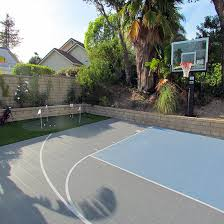 sport court products home basketball courts backyard putting