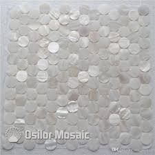 großhandel weiße chinesische süßwasser shell perlmutt mosaikfliesen für innenhaus dekoration küche und badezimmer wand fliese runde stil