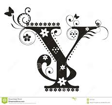 Letter Y stock vector Illustration of flores typography
