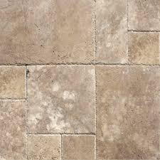 MSI Walnut Blend Pattern Honed Unfilled Chipped Travertine Floor