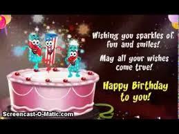 Happy Birthday Video Card Cake w Dancin Candles