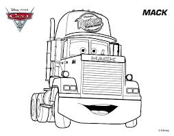 Lightning Mcqueen Mack Truck Coloring Pages
