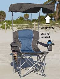 UPF 50+ Canopy For Heavy-Duty Portable Chairs (Grey)