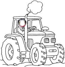 Coloriage à Dessiner Imprimer Tracteur Tondeuse