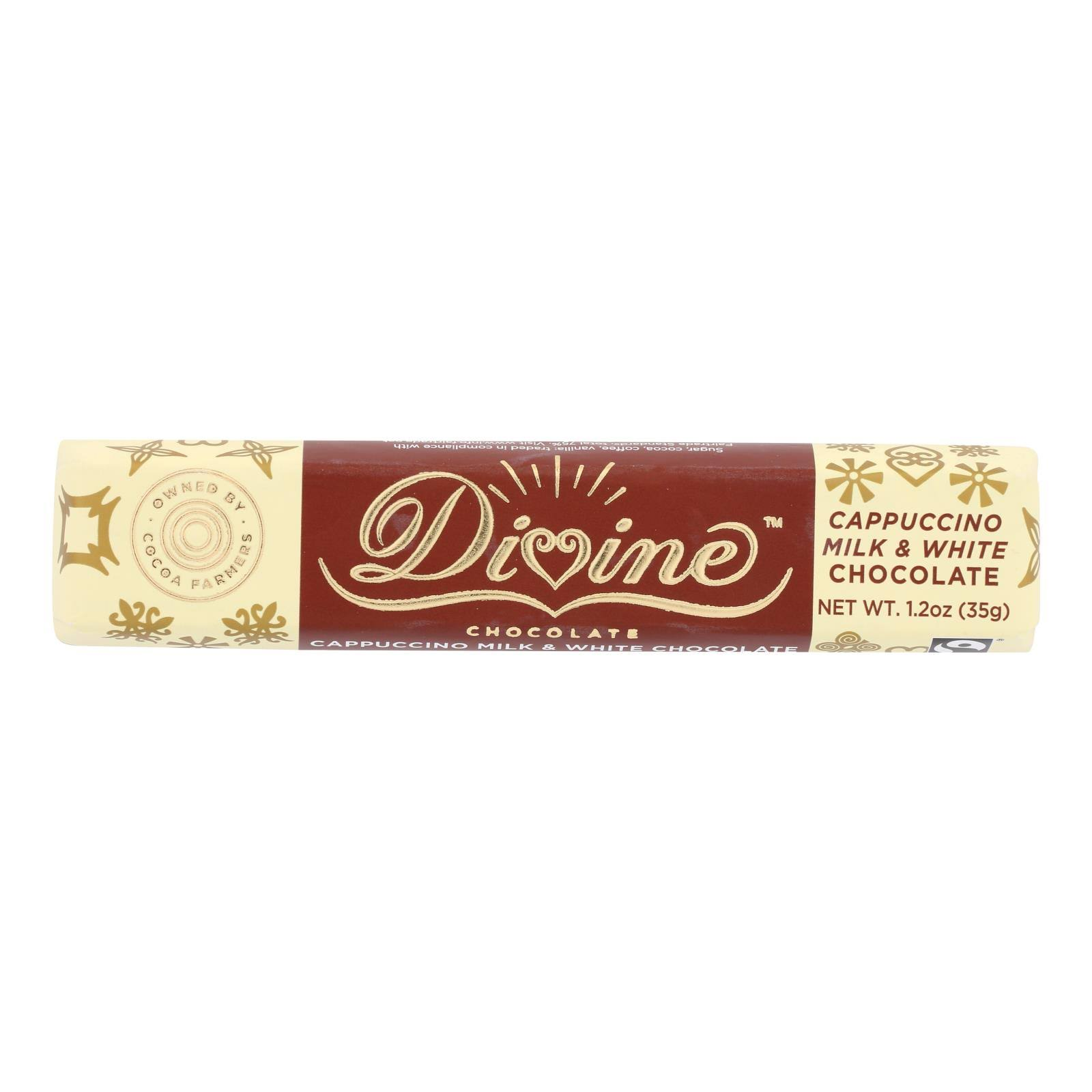 Divine Chocolate: Chocolate Bar Cappuccino, 1.2 oz