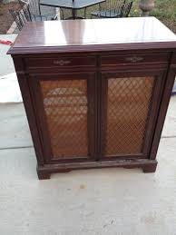 Before and After Vintage Record Cabinet