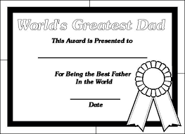 Fathers Day Coloring Pages Certificate