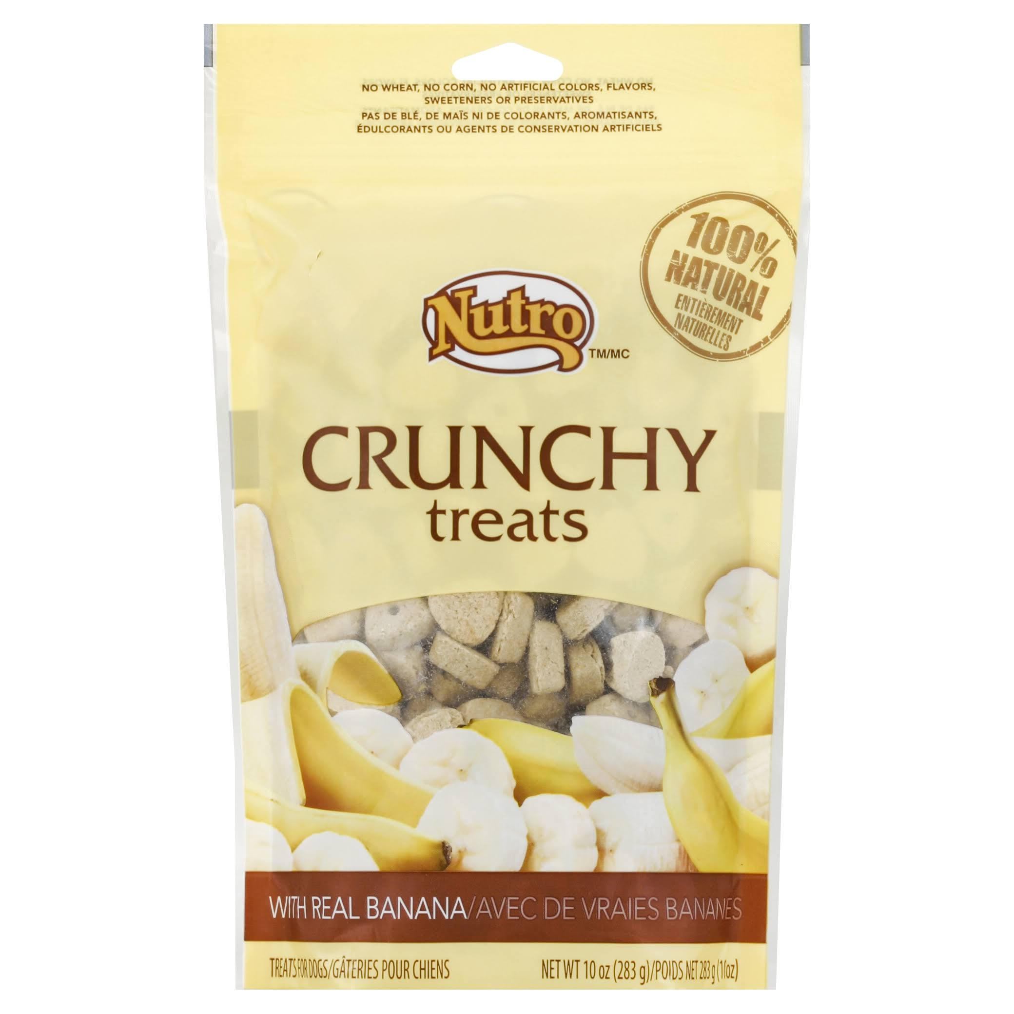 Nutro Products Crunchy Dog Treats - Banana, 10oz