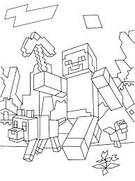 Minecraft Coloring Pages To Print Free Printable Steve