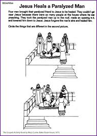 Jesus Heals Paralyzed Man Find Differences