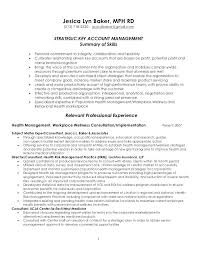 Resume Summary Samples Account Manager Plus Examples Bank To