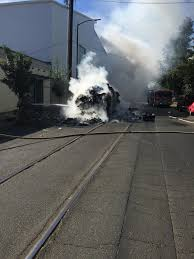 Garbage Truck Catches Fire, Dumps Load Of Burning Trash In Downtown ...