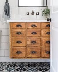 Antique Bathroom Vanity Toronto by Vintage Card Catalog As Floating Bathroom Vanity Vintage Modern