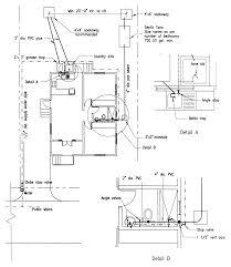Bathtub Drain Trap Diagram by Building Guidelines Drawings