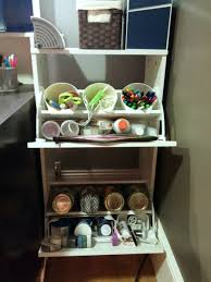 compact craft corner from the ikea bissa shoe rack stores all my