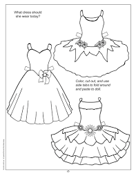 Paper Dolls Cut Outs Coloring Pages Clothes