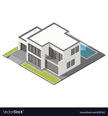 100 Picture Of Two Story House Modern Twostory House With Flat Roof Sometric