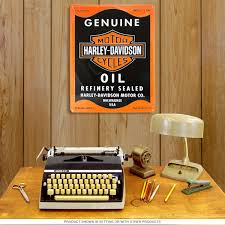 Harley Davidson Bathroom Themes by Harley Davidson Genuine Oil Tin Sign Vintage Garage Signs