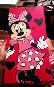 Minnie Mouse Done By Kearstin Clark Me Acrylic Painting On 7x14