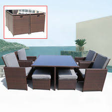 Ebay Rattan Patio Sets by Outdoor Wicker Dining Furniture Ebay