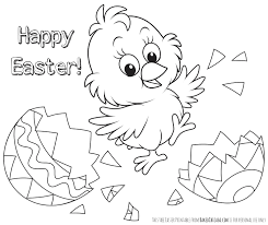 Coloring Pages Printable Happy Easter To Print Event Holiday Picture Bird Egg Contemporary Sketch Cute