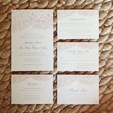 Blush Lace Wedding Invitation Suite