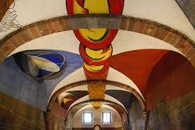 David Alfaro Siqueiros Famous Murals by Ceiling On The Area Of Vida Y Obra De General Ignacio Allende