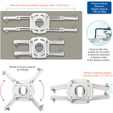 Projector Mount Drop Ceiling Walmart by Qualgear Pro Av Projector Mounting Kit With Suspended Ceiling