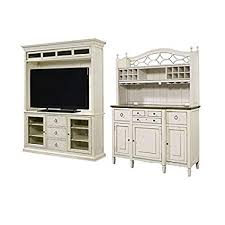 Home Square 2 Piece Living Room Set With TV Stand Buffet Bar Hutch In