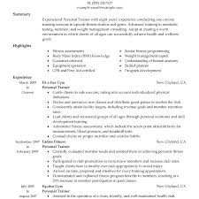 Gym Manager Resume Fair Sample For It Service Delivery Horse Trainer Template Fitness