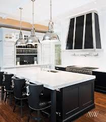 modern black and white kitchen features black and white nautical