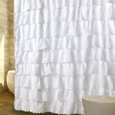 White Ruffle Curtains Target by White Ruffle Shower Curtain Frilly Curtains White Ruffle Curtains