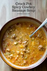 Crock Pot Potato Soup Mama by Crock Pot Spicy Cowboy Sausage Soup Flour On My Face