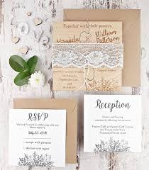 Puzzle Wedding Invitation Real Wood Invitations Rustic Engraved