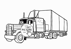 100 Awesome Semi Trucks Coloring Pages Color Truckng Pages Of Engine