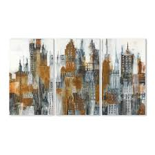 100 Ochre Home The Stupell Decor Yellow Black And White Cityscape Wall Plaque Art 3pc Each 11 X 17 Proudly Made In USA