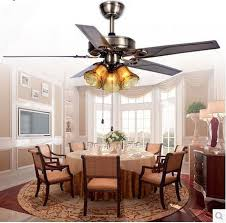 12 Dining Room With Ceiling Fan 52inch Light Remote Control Iron Leaf